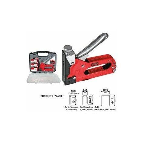 Puntatrice chiodatrice graffettatrice valigetta manuale 31va valex 1455640