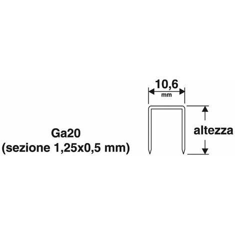 Punti 106x8 mm 8mm 1000pz x puntatrice spillatrice 31va manuale41 valex 1455563