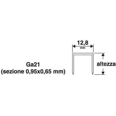 Punti 128x16 mm16 1000pz x puntatrice spillatrice pneumatica 8016 valex 1455629