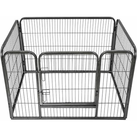 Puppy playpen 4 corners - dog pen, dog playpen, puppy pen - grey