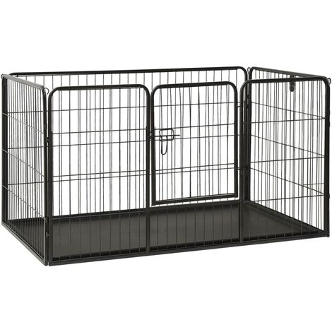 Puppy Playpen Steel 125x80x70 cm - Black