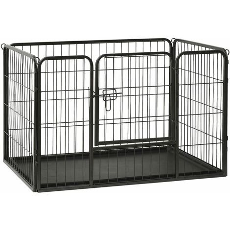 Puppy Playpen Steel 93x63x61cm - Black