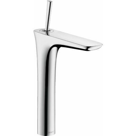 PuraVida 240 Mitigeur lavabo surélevé pour vasque libre avec flexibles de 900 mm vidage push-open pur chrome