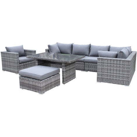 Pure Home Garden Wetterfeste Gartenmobel Polyrattan Lounge