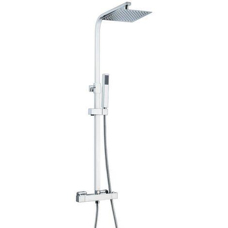 Pure Square Thermostatic Shower - Chrome