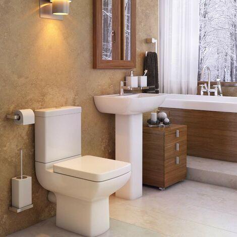 Pure Toilet & Basin Bathroom Suite - 1 Tap Hole