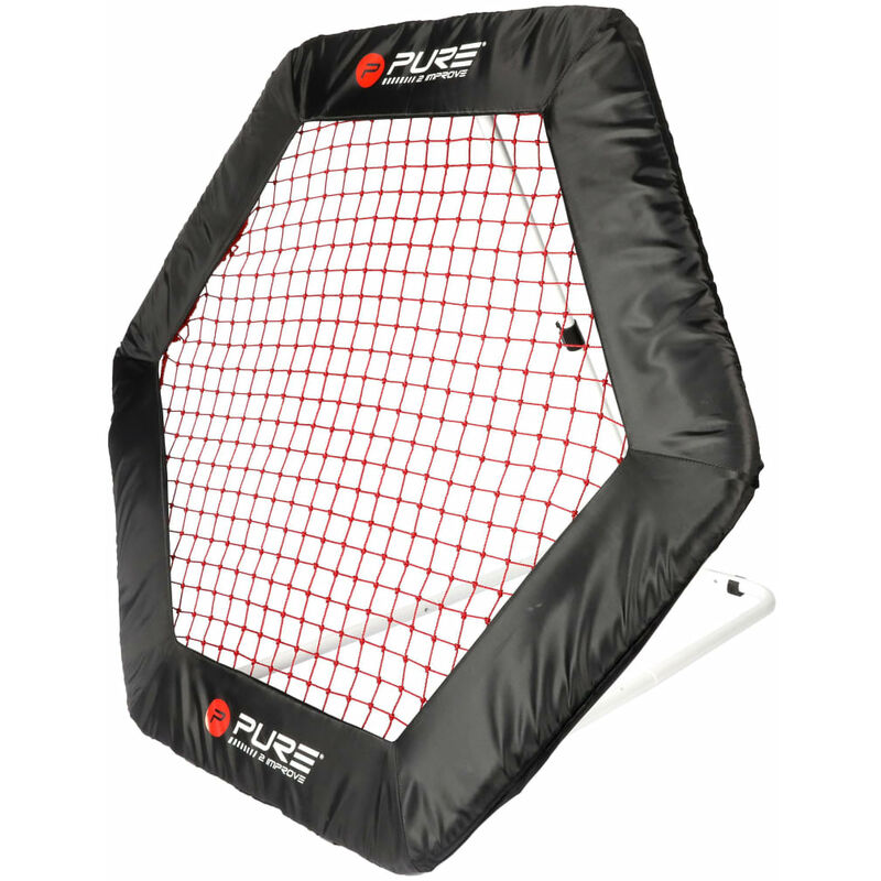 Pure2Improve Filet de rebondisseur de football Hexagonal 140x125 cm