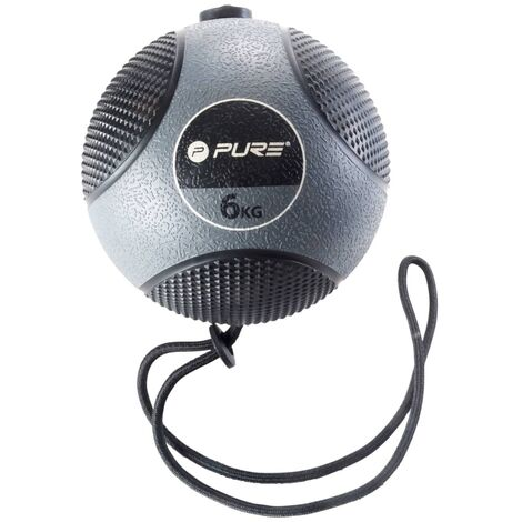 Pure2Improve Medicine Ball with Rope 6 kg Grey