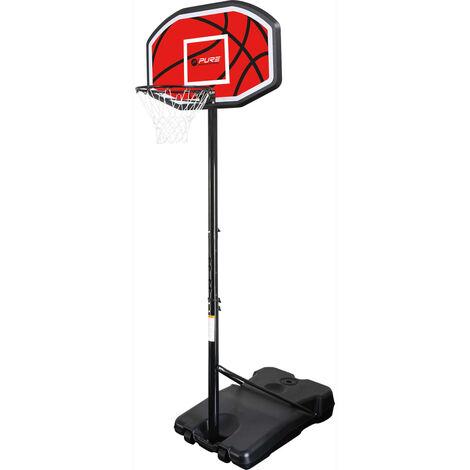 Pure2Improve Panier de basket sur pied portable 110 x 71 cm