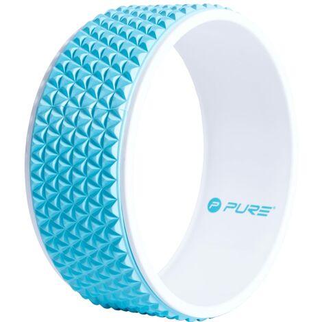 Pure2Improve Roue de yoga 34 cm Bleu et blanc