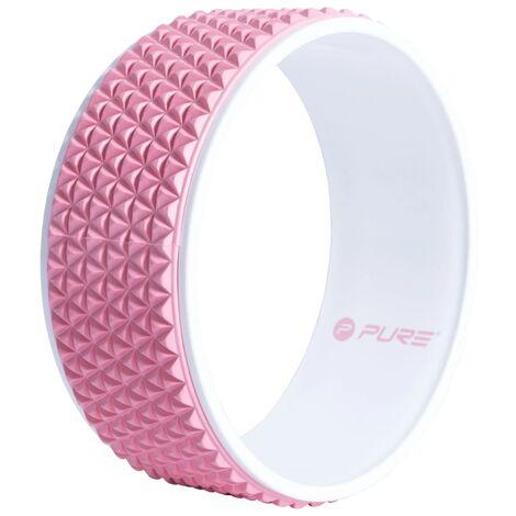 Pure2Improve Roue de yoga 34 cm Rose et blanc