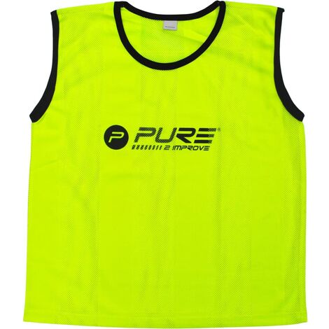 Pure2Improve Training Bibs 4 pcs Junior Yellow