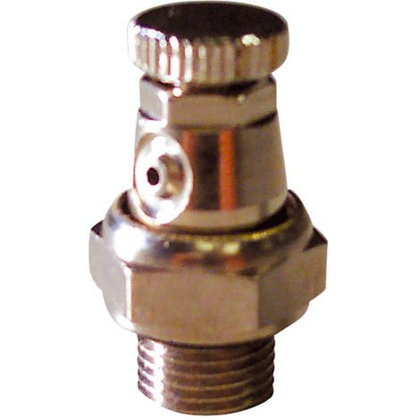 Purgeur manuel radiateur nickelé 1/8 a volant et bec orientable