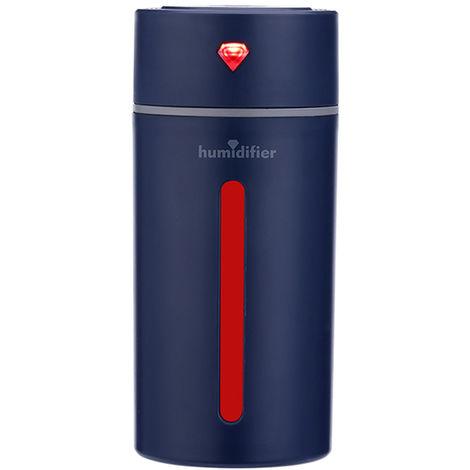 Purificador de aire con humidificador ultrasonico Diamond Cup, 250ML,Azul real