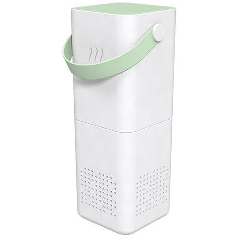Purificador de aire Filtro generador de iones de alergenos del polen polvo de plagas caspa de humo PM2.5 eliminador de aire fresco limpia, de color verde claro