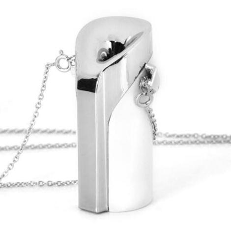 Purificador de aire personal Collar USB portatil usable ambientador de carga de sonido fonografo, blanca