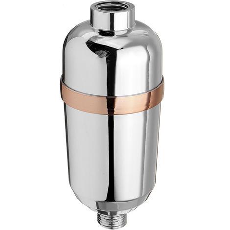 Purificador de ducha Filtro de agua 10 Piso 1/2 pulgada Eliminación de cloro Baño
