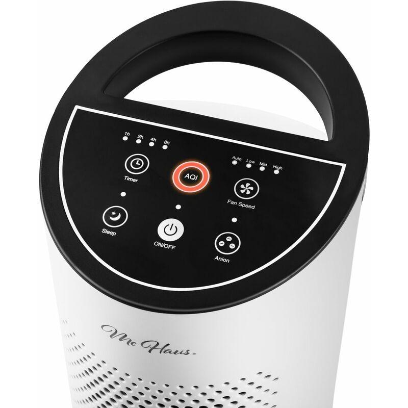Purificateur Air Ioniseur Filtre à Air Multi-Filtre Puissant Silencieux UV Blanc