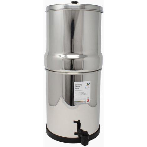 Purificateur d'eau à gravité British Berkefeld 8,5 litres équipé de 2 cartouches atc supersterasyl