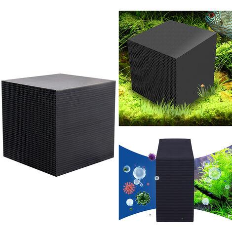 Purificateur d'eau Cube Filtre d'aquarium Filtre Eco-Aquarium Filtration et Absorption Ultra fortes 10X10X10CM,modele:Noir 10X10X10CM