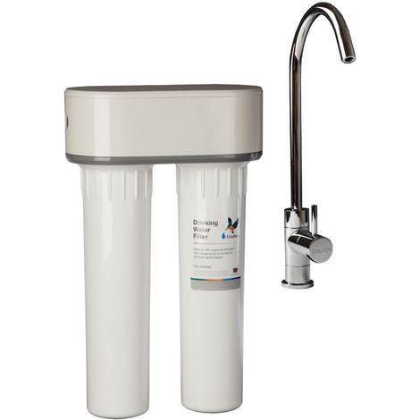 Purificateur d'eau Doulton DUO-HIP ANTI CALCAIRE sous évier + Robinet eau pure