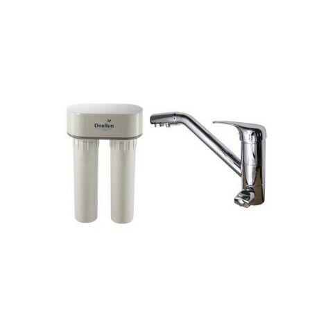 Purificateur d'eau Doulton DUO NITRATE 3079 + Robinet mitigeur 3 voies classique brillant