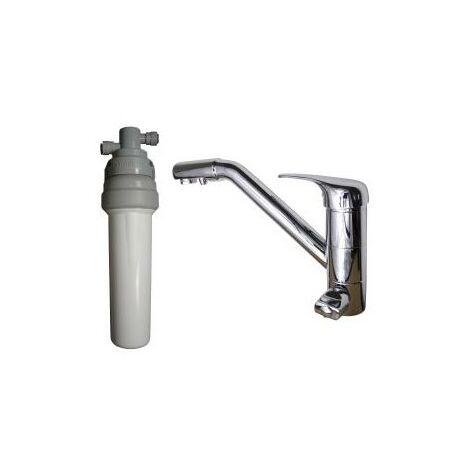 Purificateur d'eau Doulton ECOFAST + Robinet mitigeur 3 voies classique brillant
