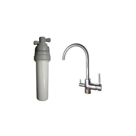 Purificateur d'eau Doulton ECOFAST + Robinet mitigeur 3 voies haut brillant