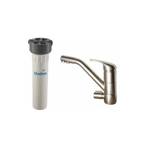 Purificateur d'eau Doulton HIP 3020 + Robinet mitigeur 3 voies classique brossé