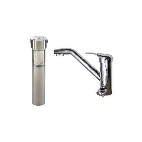 Purificateur d'eau Doulton HIS 3040 + Robinet mitigeur 3 voies classique brillant
