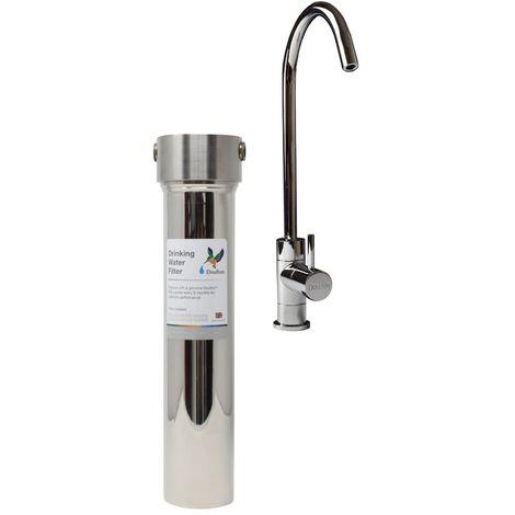 Purificateur d'eau Doulton HIS sous évier avec cartouche Ultracarb + raccordement eau froide et robinet eau pure