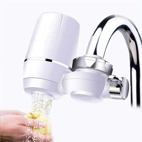 Purificateur Eau Robinet, Purificateur d'eau du Robinet Robinet de Cuisine Propre Retirez les Impuretés de l'eau Rouille Mini Filtre à Eau en Céramique Lavable à Percolateur