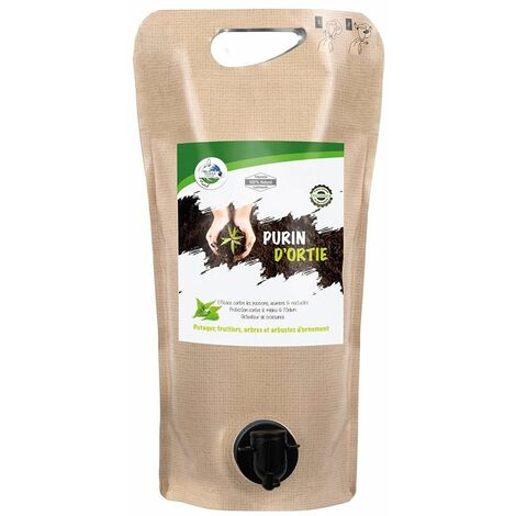 Purin d'ortie 100% naturel 2L pucerons, acariens, noctuelles - Alu