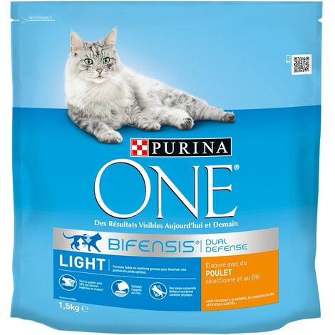 Purina One Chat Light Poulet et Blé, 1,5 kg