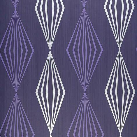 Purple Diamond Wallpaper Dulux Silver Geometric Paste The Wall