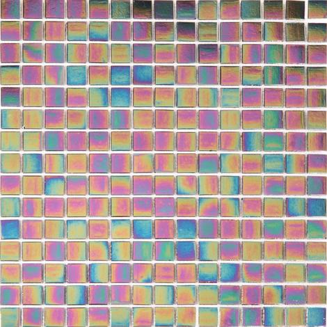 Purple Iridescent Vitreous Glass Bathroom Kitchen Mosaic Tile MT0141