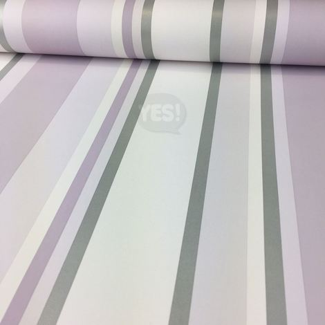 Purple Lilac Silver Striped Wallpaper Orla Arthouse Pastel Metallic Luxury