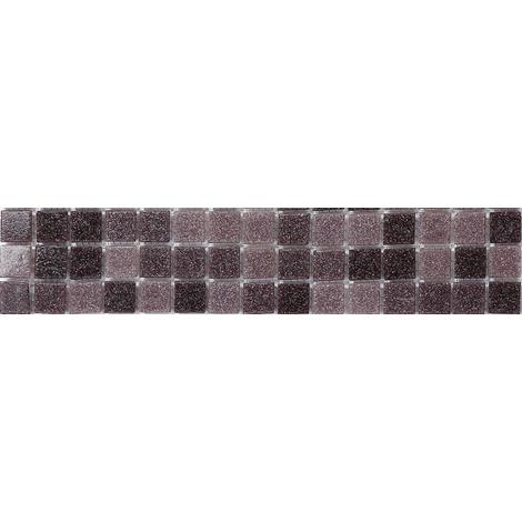 Purple Mix Viterous Glass Mosaic Wall Tiles Strips Border Strip MB0108