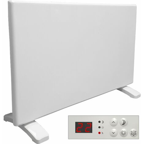Purus Eco 1200W Electric Panel Electric Heater Bathroom Safe Setback Timer Lot 20 & Advanced Thermostat Control Wall Mounted or Floor Standing Low Energy Electric Heater