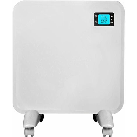 Purus Panel Heater Intelligent 24 Hour 7 Day Timer Bathroom Safe 400W - 2000W, Lot 20 Flat Wall Mounted Low Energy Electric Heater for home Slimline Electric Radiator Low Energy Efficient Convector Heater Digital thermostat (400W)