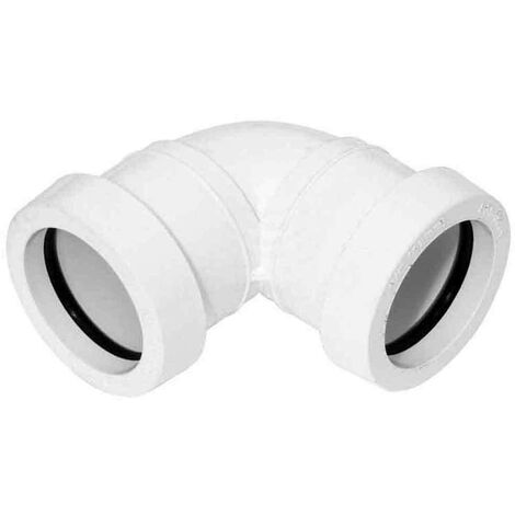 Push-Fit 90 Degree Knuckle Bend 40mm White