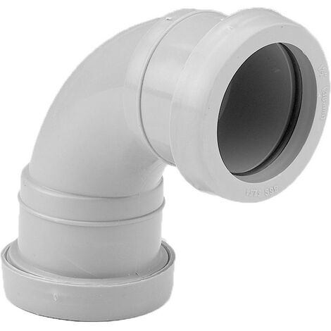Push-Fit 92.5 Degree Swept Bend 40mm White