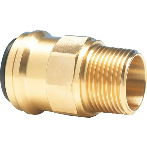 Push-fit System for Compressed Air - Brass Straight Adaptor