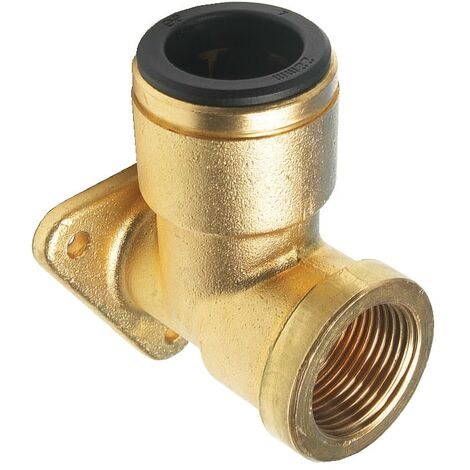Push-fit System for Compressed Air - Brass Wingback Elbow