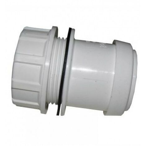 Push-Fit Tank Connector 40mm White