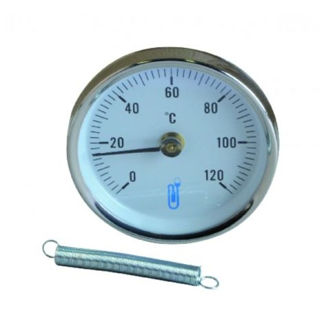 Push-fit thermometer for panel piping ø 80mm