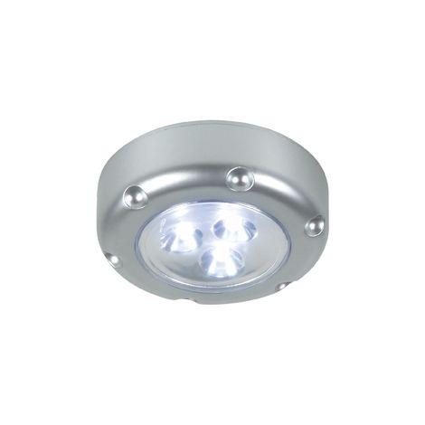 PUSH LIGHT LED FLORENZ GRIS, FONCTIONNE AVEC 3 PILES AAA FOURNIES RANEX 6000.072