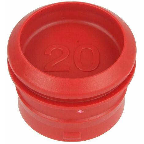 PushFit bouchon de protection 20 pour gaine de protection, rouge carmin