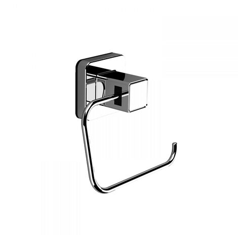 PushLoc Chrome Wall Mounted Toilet Roll Holder