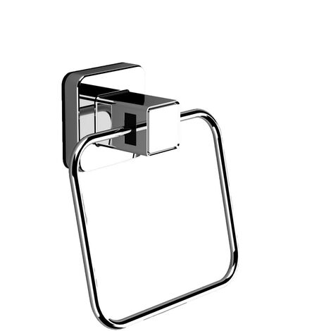 PushLoc Chrome Wall Mounted Towel Ring